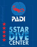 PADI Officially recognized 5 star dive center